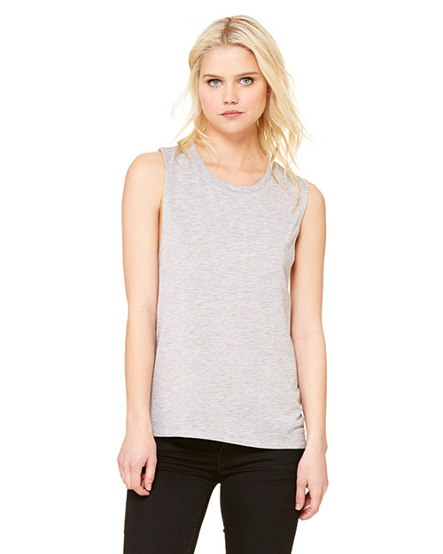 Bella + Canvas B8803 Women Flowy Scoop Muscle Tank Athletic Heather at GotApparel