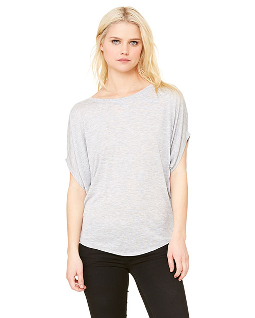Bella + Canvas B8806 Women Flowy Circle Top Athletic Heather at GotApparel