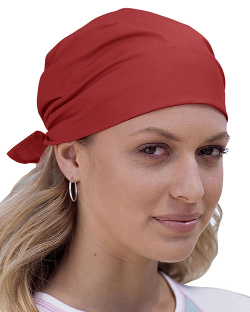 Big Accessories / BAGedge BA001 Unisex Solid Bandana Red at GotApparel