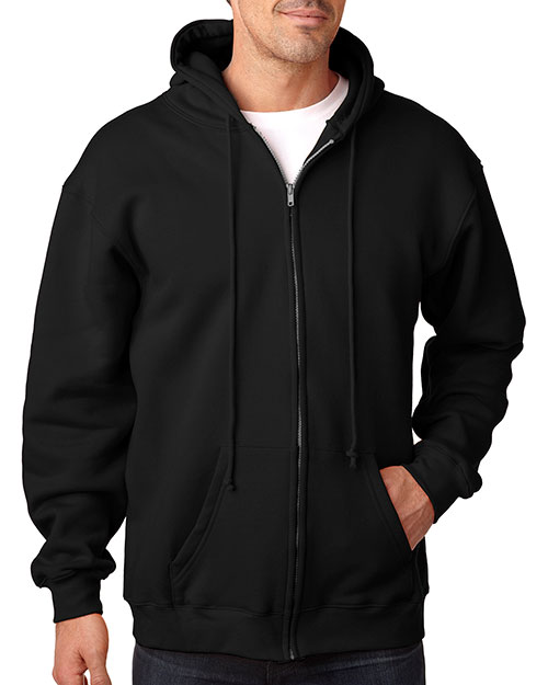 Bayside 900 Men Hooded FullZip Fleece Black at GotApparel