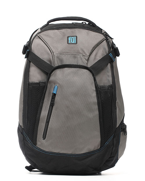 FUL BD5270 Alleyway Boot Legger Backpack TITANIUM/BLACK at GotApparel