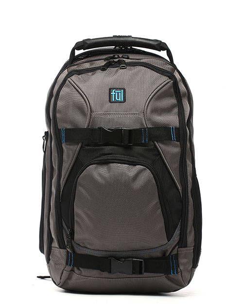 FUL BD5272 Alleyway Wild Fire Backpack TITANIUM/BLACK at GotApparel