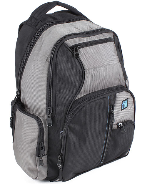 FUL BD5276 Alleyway TouchNGo Backpack Titanium/Black at GotApparel