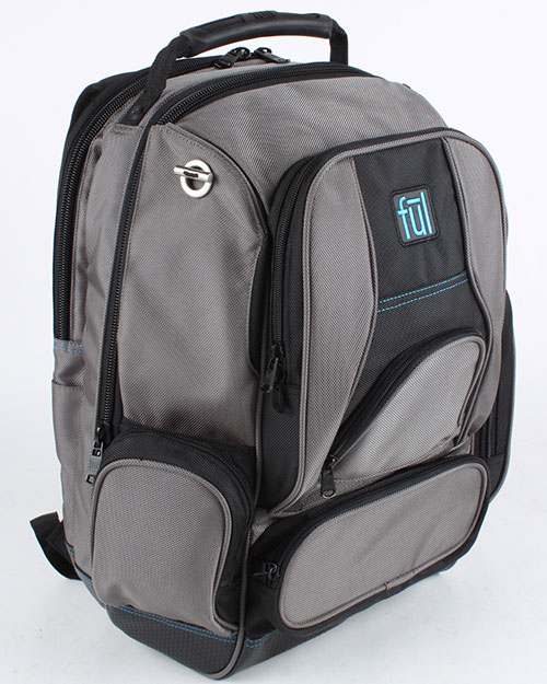 FUL BD5333 Alleyway Groundbreaker Backpack TITANIUM/BLACK at GotApparel