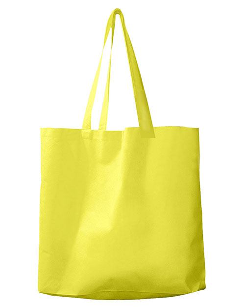 BAGedge BE002 Unisex Non-Woven Promo Tote Yellow at GotApparel