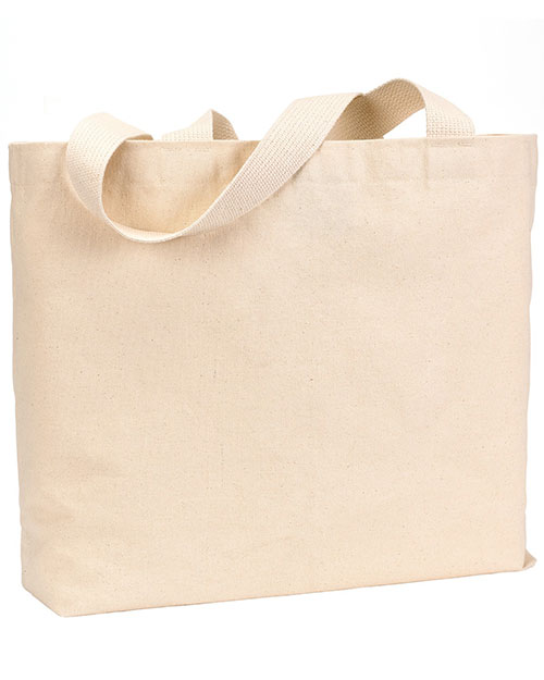 Bayside BS600  Unisex USA-Made Jumbo Tote Natural at GotApparel