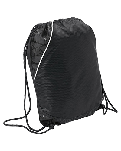 Sport-Tek BST600  Unisex Rival Cinch Pack Black at GotApparel