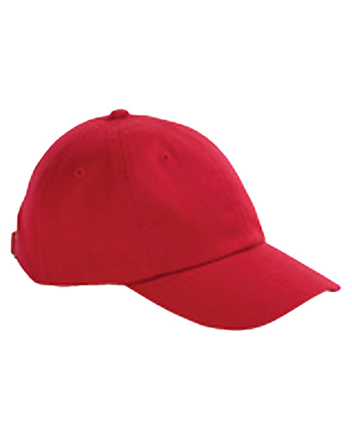 Big Accessories / BAGedge BX001Y Kids 6-Panel Brushed Twill Unstructured Cap Red at GotApparel