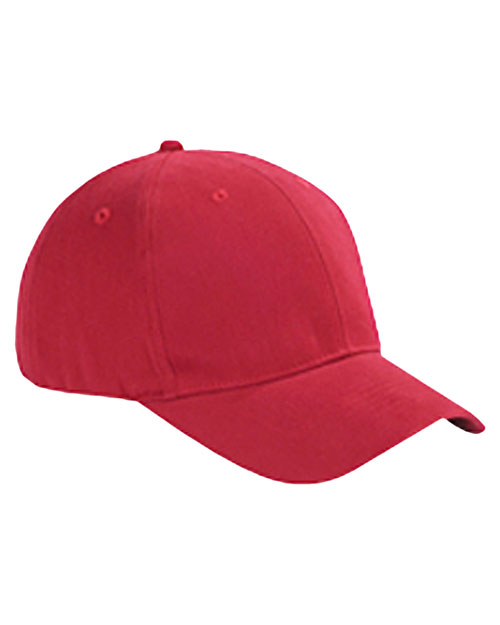 Big Accessories / BAGedge BX002 Unisex 6-Panel Brushed Twill Structured Cap Red at GotApparel