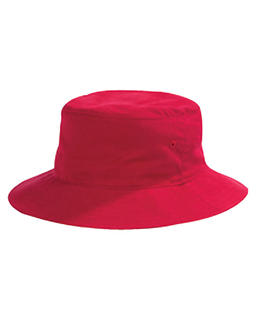 Big Accessories / BAGedge BX003 Unisex Crusher Bucket Cap Red at GotApparel