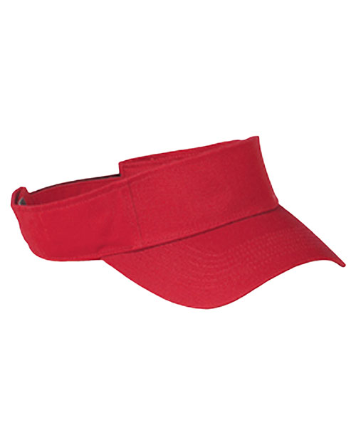 Big Accessories / BAGedge BX006 Unisex Cotton Twill Visor Red at GotApparel