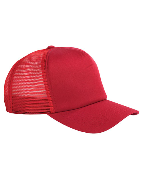 Big Accessories / BAGedge BX010 Unisex 5Panel Twill Trucker Cap Red at GotApparel