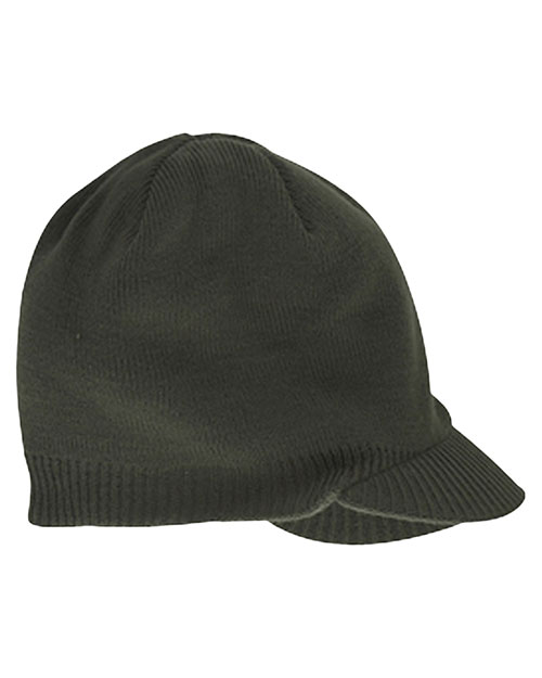 Big Accessories / BAGedge BX012 Unisex Knit Cap with Bill Olive at GotApparel