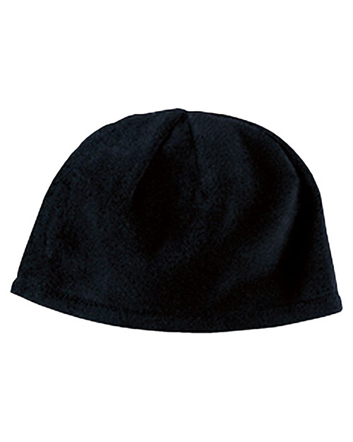 Big Accessories / BAGedge BX013 Unisex Knit Fleece Beanie Black at GotApparel