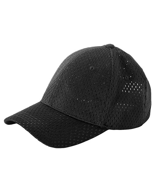 Big Accessories / BAGedge BX017 Unisex 6-Panel Structured Mesh Baseball Cap Black at GotApparel