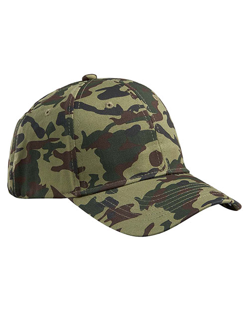 Big Accessories / BAGedge BX024 Men Structured Camo Hat Forest Camo at GotApparel