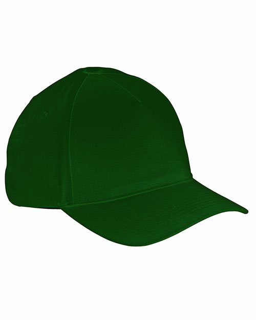Big Accessories / BAGedge BX034 Men 5Panel Brushed Twill Cap Forest at GotApparel
