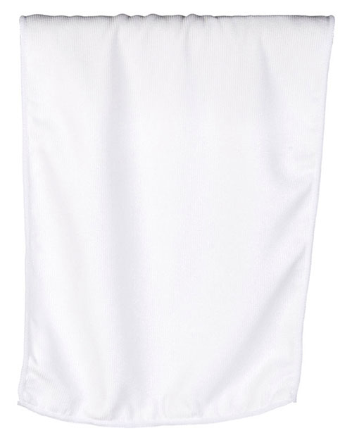 UltraClub C1118BND  Unisex C1118  Microfiber Rally Towel White at GotApparel