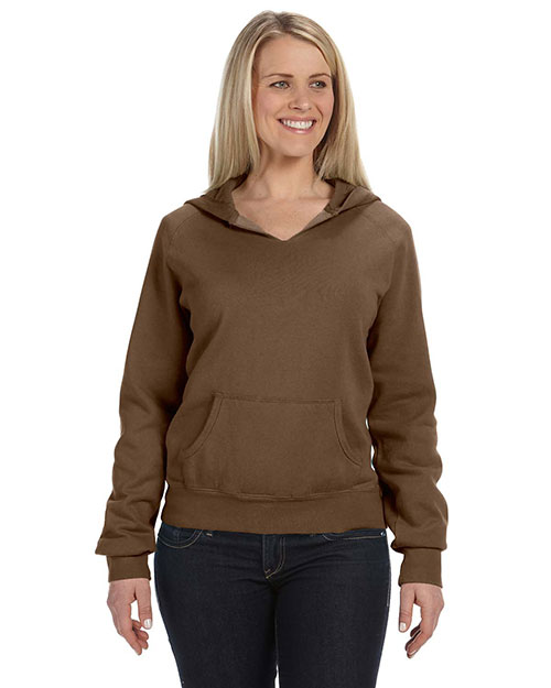 Comfort Colors C1595 Women 10 oz. Garment-Dyed FrontSlit Pullover Hood Brown at GotApparel