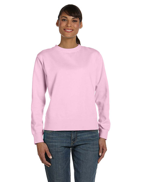 Comfort Colors C1596 Women 10 oz. Garment-Dyed WideBand Fleece Crew Blossom at GotApparel