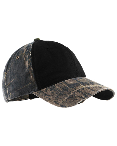Port Authority C807    - Camo Cap with Contrast Front Panel.  Mossy Oak New Break-Up/Black at GotApparel