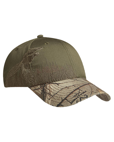 Port Authority C820 Men Embroidered Camouflage Cap Rt Ex/Pheasant at GotApparel