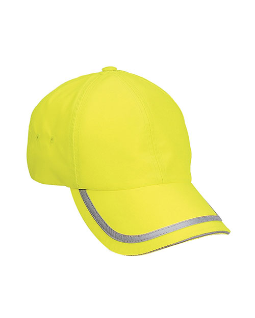 Port Authority C836 Unisex Enhanced Visibility Cap Safety  Yellow/ Reflective at GotApparel