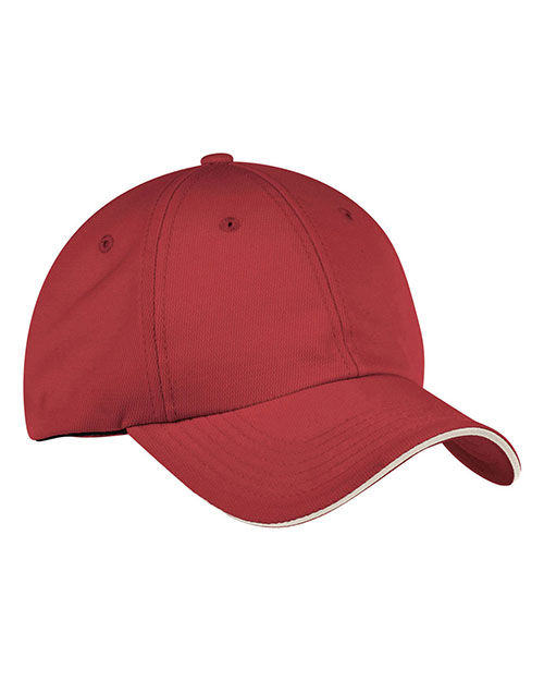 Port Authority C838 Men Dry Zone   Cap Mars Red/Stone at GotApparel
