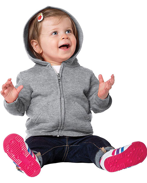 Precious Cargo CAR78IZH Toddlers infants FullZip Hooded Sweatshirt Athletic Heather at GotApparel