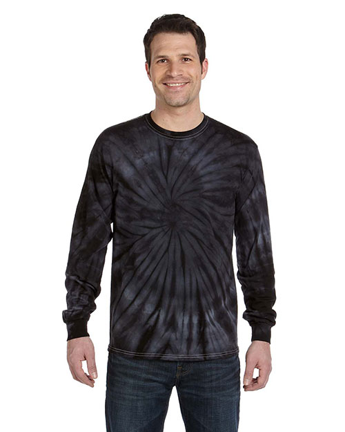 Tie-Dye CD2000 100% Cotton Long-Sleeve d T-Shirt SPIDER BLACK at GotApparel