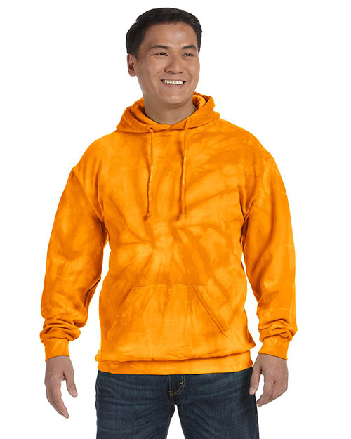 Tie-Dye CD877 100% Cotton d Pullover Hood SPIDER GOLD at GotApparel
