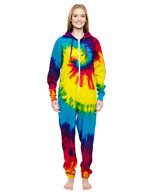 Tie-Dye CD892 Girls All-In-One Loungewear Reactive Rainbow at GotApparel