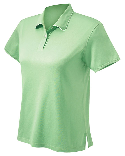 Chestnut Hill CH150W Women's Performance Plus Mercerized Polo Grass/White at GotApparel