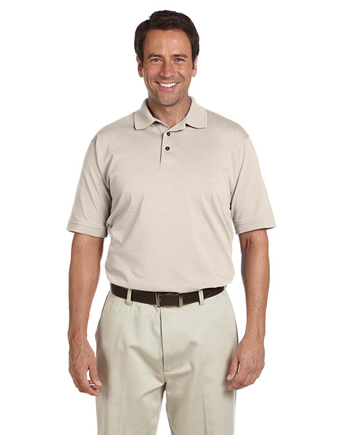 Chestnut Hill CH180 Men Performance Plus Jersey Polo Stone at GotApparel