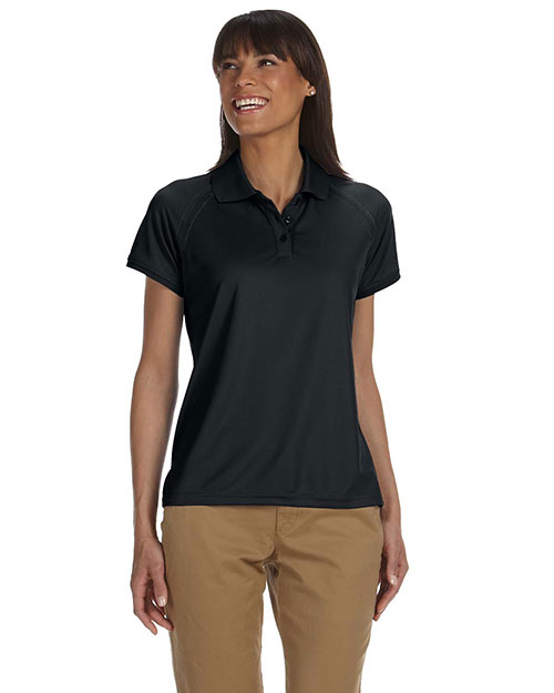 Chestnut Hill CH365W Women Technical Performance Polo Black at GotApparel