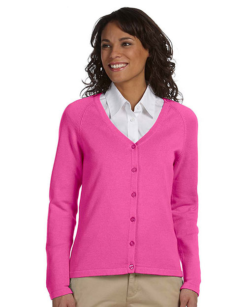Chestnut Hill CH405W Women Buttoned Cardigan Hibiscus at GotApparel