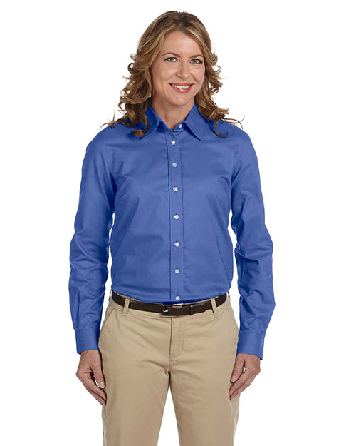 Chestnut Hill CH580W Women Performance Plus Oxford French Blue at GotApparel
