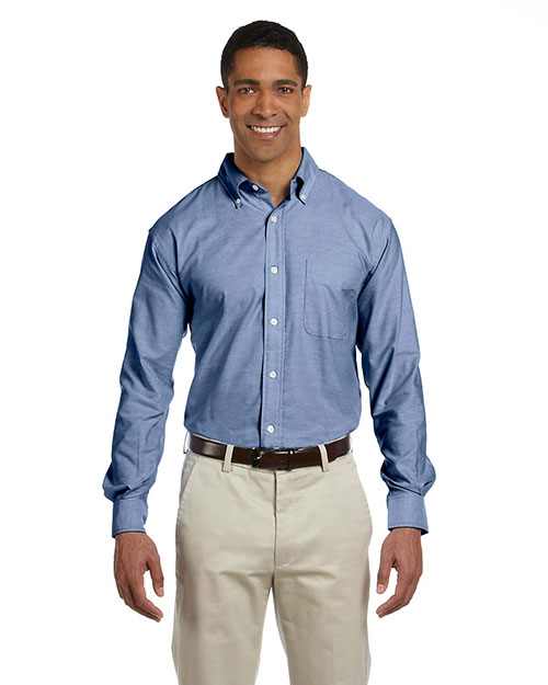 Chestnut Hill CH580 Men Performance Plus Oxford Light Blue at GotApparel
