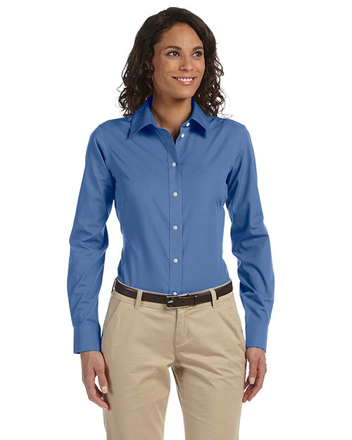 Chestnut Hill CH600W Women Executive Performance Broadcloth Atlantic at GotApparel