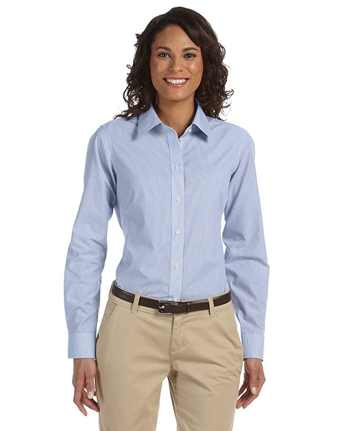Chestnut Hill CH600W Women Executive Performance Broadcloth Atlantic Stripe at GotApparel