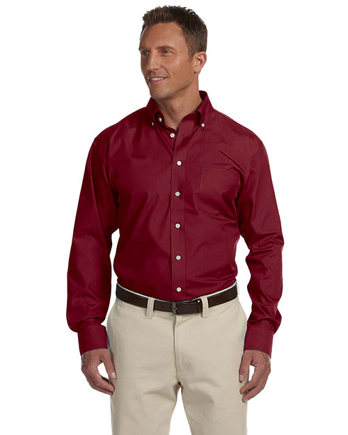 Chestnut Hill CH600 Men Executive Performance Broadcloth Merlot at GotApparel