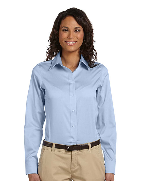 Chestnut Hill CH620W Women Executive Performance Pinpoint Oxford Light Blue at GotApparel