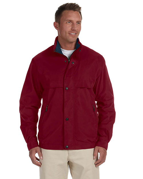 Chestnut Hill CH850 Men Lodge Microfiber Jacket Merlot/New Navy at GotApparel