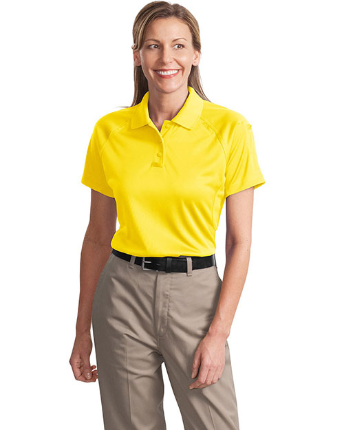 CornerStone CS411 Women Select SnagProof Tactical Polo Yellow at GotApparel
