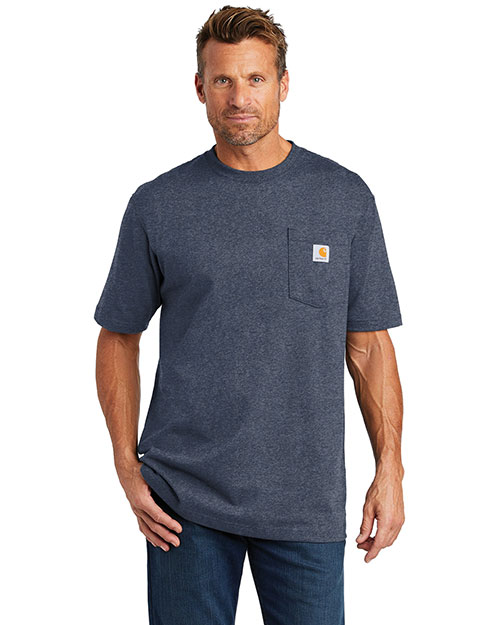 Custom Embroidered Carhartt CTTK87 Men 6.75 oz Tall Workwear Pocket Short Sleeve T-Shirt at GotApparel