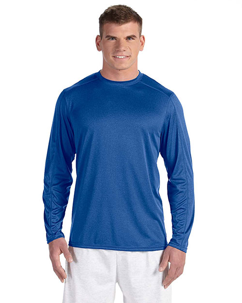 Champion CV26 Men Vapor 4 oz. LongSleeve TShirt Ath Royal Hther at GotApparel