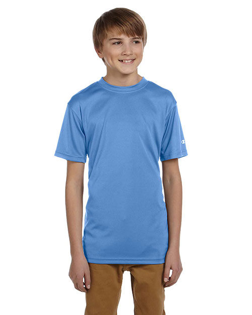Champion CW24 Boys Double Dry 4.1 oz. Interlock T-Shirt Light Blue at GotApparel