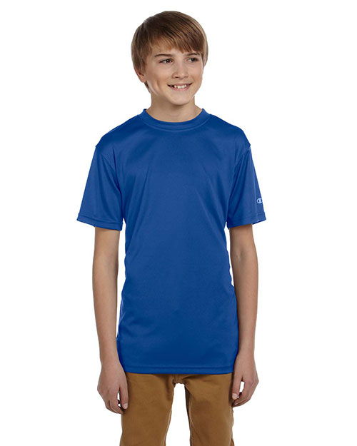 Champion CW24 Youth 4 oz. Moisture Management T-Shirt ROYAL BLUE at GotApparel