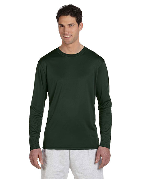 Custom Embroidered Champion CW26 Men Double Dry 4.1 Oz. Long-Sleeve Interlock T-Shirt at GotApparel