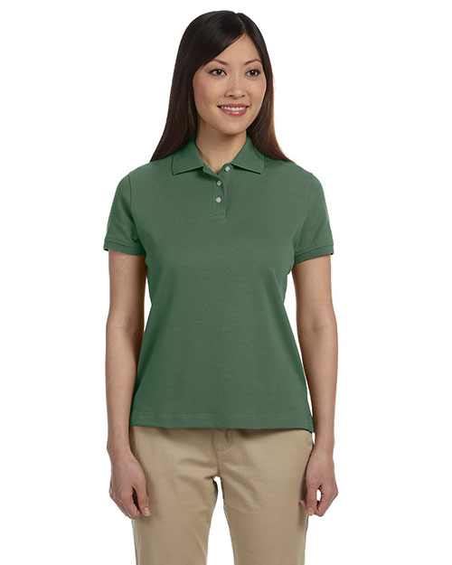Devon & Jones Classic D140SW Women Solid Perfect Pima Interlock Polo Dill at GotApparel